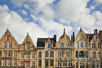 Ypres Photograph - Flemish Architecture In Ypres, Belgium by Jon Boyes