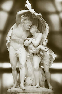 Scupture Photograph - Flight From Pompeii by Linde Townsend