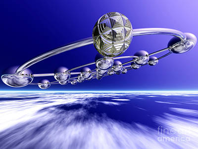 Digital Art - Flight In The Upper Atmosphere by Nicholas Burningham