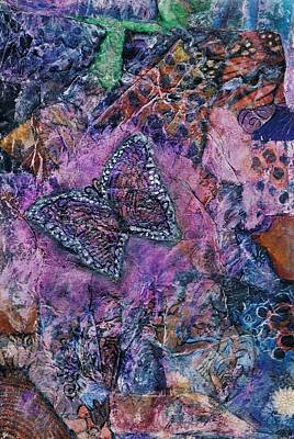 Pearlescent Mixed Media - Flight Of The Butterfly by Cassandra Donnelly