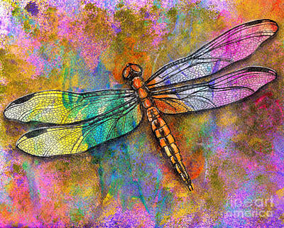 Mixed Media - Flight Of The Dragonfly by Dion Dior