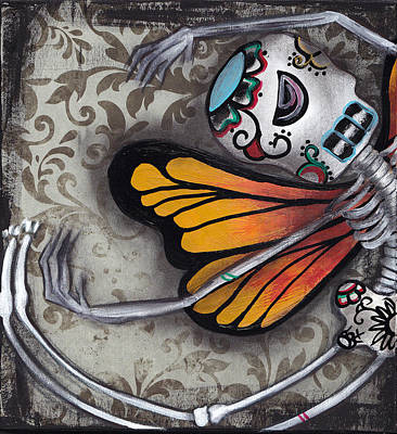 Flight Of The Monarch Art Print by  Abril Andrade Griffith