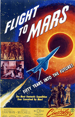 Postv Photograph - Flight To Mars, 1951, Poster Art by Everett