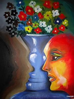 Kasana Painting - Flip-face Ambiguity by Shakhenabat Kasana