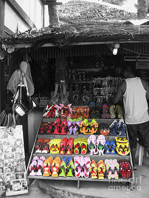 Art Print featuring the photograph Flip Flops Anyone by Victoria Lakes