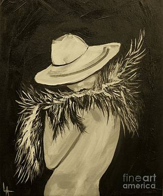 Painting - Flirt Three by Leslie Allen