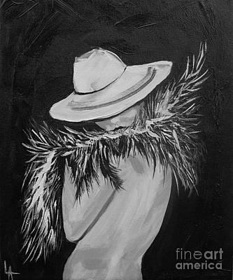 Flirt Two Art Print by Leslie Allen