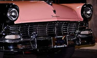 Pink Hot Rod Photograph - Flirtacious Fairlane by DigiArt Diaries by Vicky B Fuller