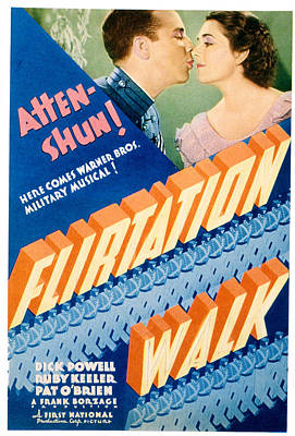 Postv Photograph - Flirtation Walk, Dick Powell, Ruby by Everett