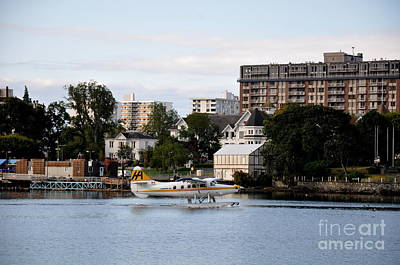 Float Plane In Victoria Inner Harbor Art Print by Tanya  Searcy