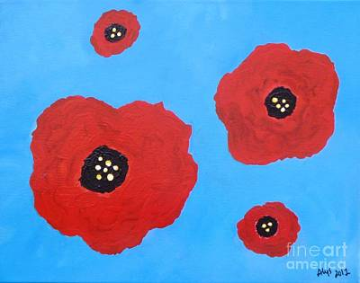 Art Print featuring the painting Floating Flowers by Alys Caviness-Gober