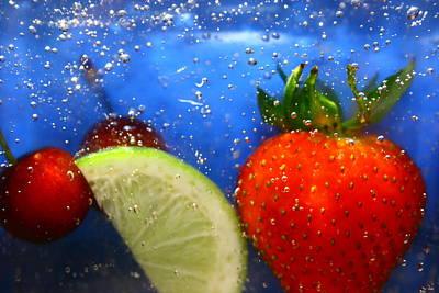 Floating Fruit Art Print