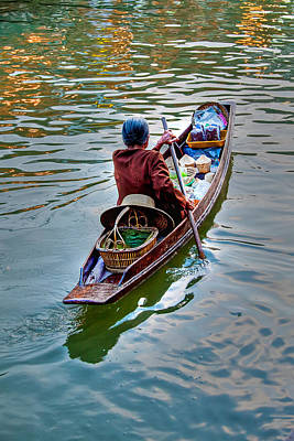 Oars Photograph - Floating Market by Adrian Evans