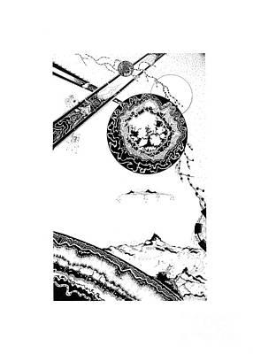 Floating Mountain Art Print by Jan Adrian Klein Ovink