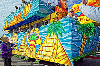 Floating Thru Mardi Gras 2 Print by Steve Harrington