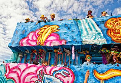 Floating Thru Mardi Gras Art Print