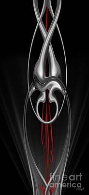 Digital Art - Floating With Red Flow 8 by Johnny Hildingsson