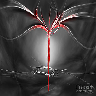Floating With Red Flow 9 Art Print