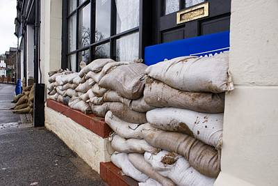 Sand Bags Photograph - Flood Defences by Mark Williamson