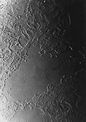 Surface Feature Photograph - Flooded Basin On Surface Of Triton by Nasa