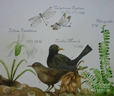 Painting - Flora And Fauna 2 by Annemeet Hasidi- van der Leij