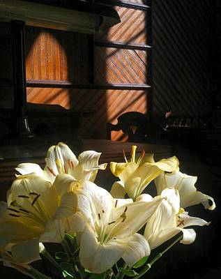 Photograph - Flora Lilies In A Vacant House by William OBrien