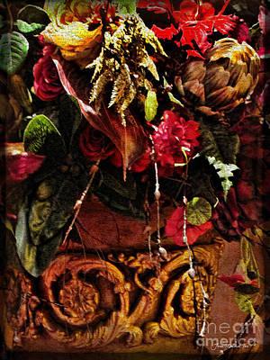 Photograph - Floral Antique by Joan  Minchak