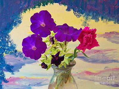 Painting - Floral Arch Island by Judy Via-Wolff