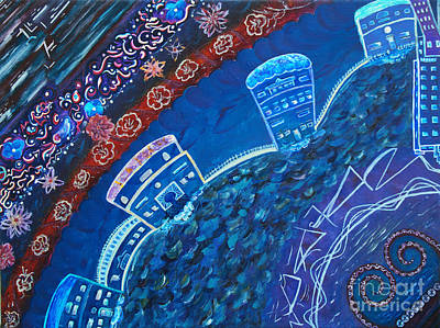 Painting - Floral City by Pm Ernst
