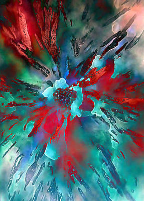 Floral Eruption Art Print by AnneLise McCoy