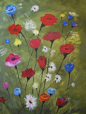Painting - Floral Fields by Leslie Allen