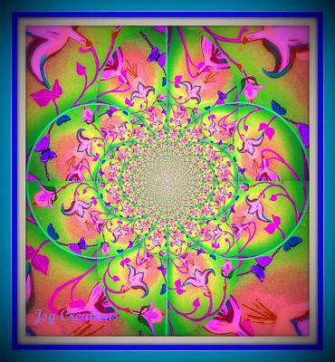 Fuschia Mixed Media - Floral Fractal by Jan Steadman-Jackson