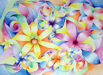Painting - Floral Fractal by Linda Pope