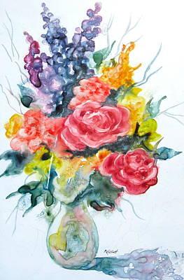 Floral Fun With Yupo Print by Marsha Elliott