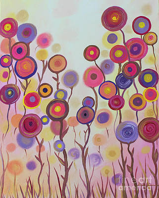 Print featuring the painting Floral Jewels by Stacey Zimmerman