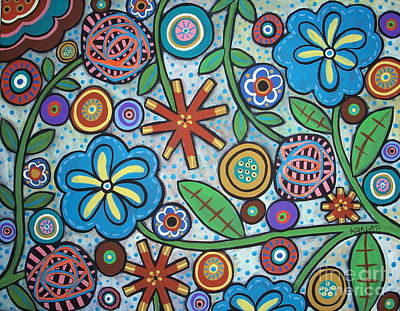 Folk Art Flowers Painting - Floral by Karla Gerard