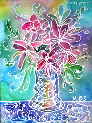 Floral Art Print by M C Sturman