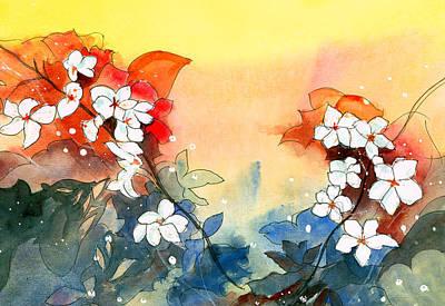 Floral Neklace Original by Anil Nene