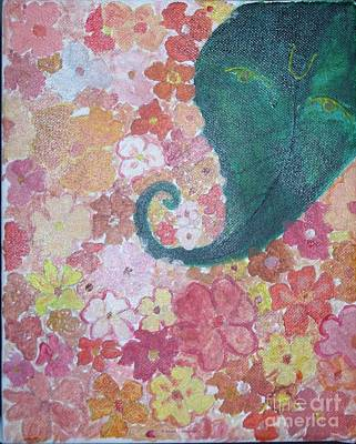 Floral Offerings To Lord Ganesha Art Print by Sonali Gangane