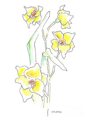 Floral Paintings 2 Art Print by Gordon Punt