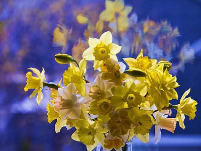 Floral Reflections Art Print by Jo-Anne Gazo-McKim