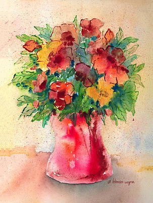 Floral Still Life Print by Arline Wagner