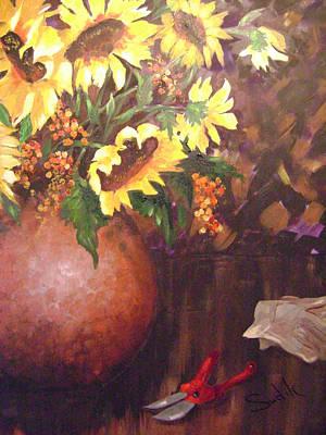 Bittersweet Painting - Floral Sunshine by Barbara Sudik