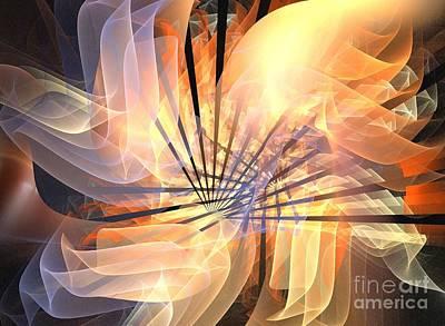 Floral Supernova Art Print by Kim Sy Ok