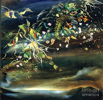 Painting - Floral Upon The Sea by Karin Zukowski