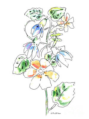 Painting - Floral Watercolor Paintings 4 by Gordon Punt