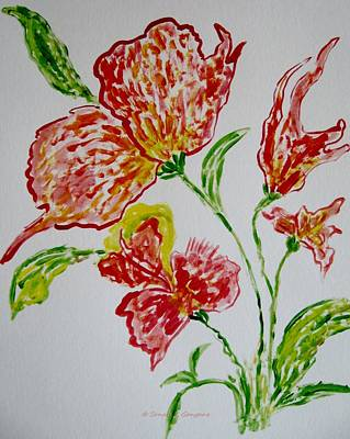 Art Print featuring the painting Florals by Sonali Gangane