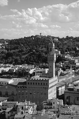 Photograph - Florence - Black And White by Dany Lison