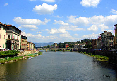 Art Print featuring the photograph Florence Arno River by Patrick Witz