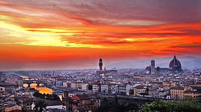 Photograph - Florence At Sunset by Celiane Osimo